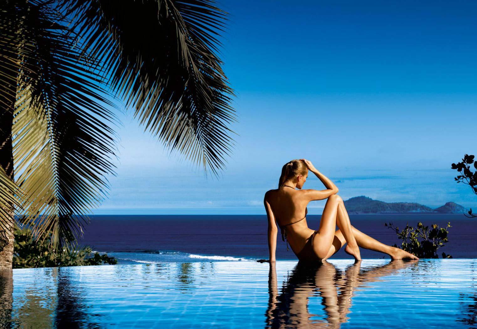 Девушка на Сейшельских островах