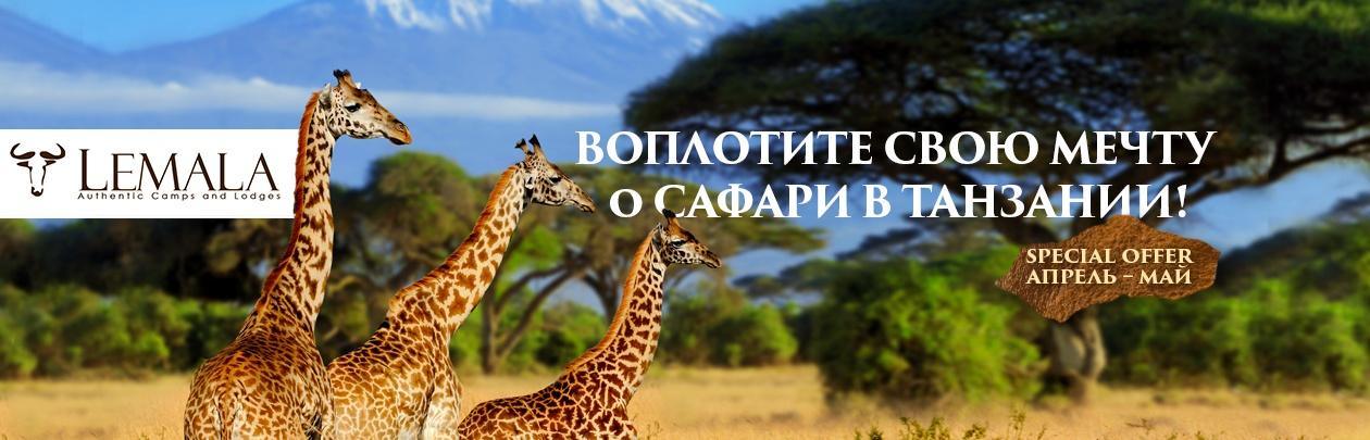 Воплоти свою мечту о сафари в Танзании!